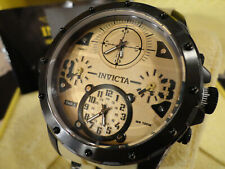 Invicta 31139 50mm Coalition Forces Quad Special Ops Desert Brn Strap Watch NEW!