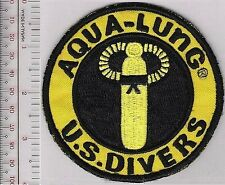 SCUBA Diving USA US Divers Aqua-Lung 1960 & 70's Patch Black on Yellow med