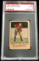 1951 Parkhurst #4 Maurice Rocket Richard MONTREAL CANADIENS Rookie Card ~ PSA 2