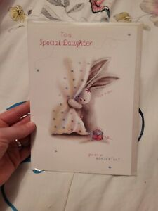 Daughter birthday Card NEW - rabbit