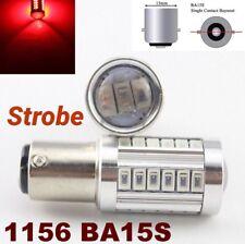 Strobe 1156 BA15S 7506 P21W 33 SMD samsung LED Red Backup Reverse M1 AW