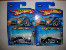 HOT WHEELS 2005 HOT WHEELS RACING 1/5 MUSTANG COBRA #086 BLACK/BLUE LOT OF 2