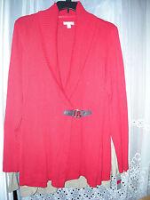 NWT 3X DARK ZONE RED Charter Club Sweater Shawl-Collar Buckle Cardigan