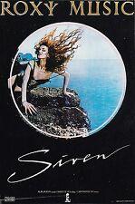 ROXY MUSIC/ SIREN 1991 *RARE ORIGINAL ISLAND RECORDS POSTER* POP ROCK