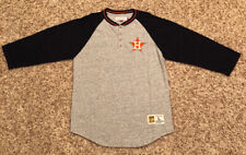 Houston Astros Mitchell and Ness Men's 3/4 Sleeve Henley Large