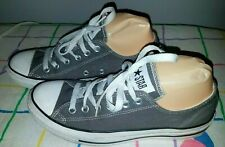 CONVERSE ALL STAR Unisex Gray Canvas Low Shoes Size 6 Men/ Women 8, ex cond