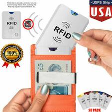 RFID Blocking Card Holder 20 Pack - Credit/Debit/Bank Protector Sleeves Secure