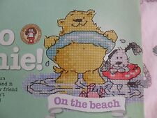 Archie Bear On the Beach Cross Stitch Chart by Margaret Sherry