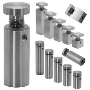 Wall Spacer Plug Stainless Steel Fastening Fixing Mounting Acrylic Glass Holder