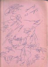1993 Washington Capitals Autographed Page by 20 w/ Peter Bondra