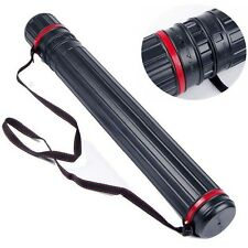 Adjustable Arrow Quiver Tube Holder 12-24 PCS Archery Case Back Shoulder w/ Belt