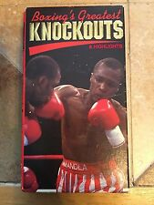 Boxings Greatest Knockouts & Highlights VHS 1990 Ali Frazier