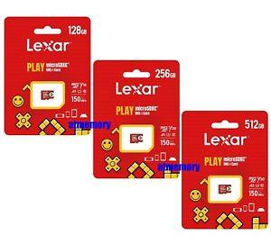 Lexar Play 128GB 256GB 512GB Micro SD SDXC Memory Card 150MB/s V30 UHS-I