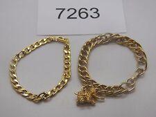Vintage Jewelry LOT OF 2 Bracelets GOLD TONE AVON ELEPHANT PENDANT 7263