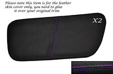 PURPLE STITCH 2X REAR DOOR INSERT SKIN COVERS FITS ROVER COUPE CABRIOLET 96-99