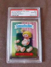 2013 garbage pail kids Chrome OS1 Rare! C-Variation Pieced Reece #6c PSA 10