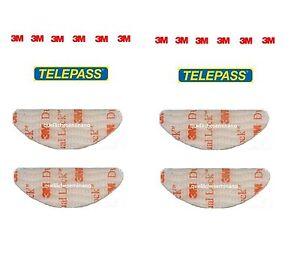 ADESIVI PER TELEPASS 4 PEZZI 3M DUAL LOCK-BIADESIVO SISTEMA  ORIGINALE-SJ3560