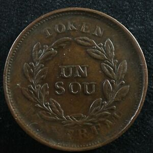 Halfpenny token Canadian Colonial #9 Free shipping Canada and the USA Week #28