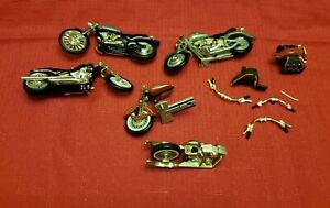 LOT OF 11 ~ 1:24  MOTORCYCLE PARTS & ACCESSORIES DIECAST