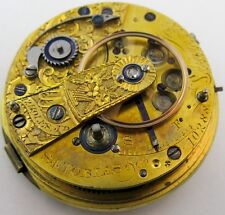 Pocket Watch Movement S. I. Tobias at Liverpool, chain fusee & dustcover