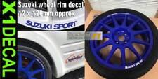 Suzuki Sport Wheel Rim Decal sticker Ultra 3M Vinyl 12mm x 120mm x1 White