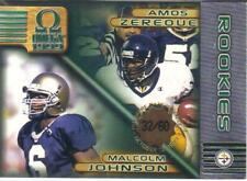 1999 PACIFIC OMEGA ROOKIES PREMIERE DATE #ed 32/60  AMOS ZEREOUE/M. JOHNSON #192