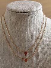 Nwt Dainty Goldtone Triangle Multilayer Career Boho Fashion Statement Necklace