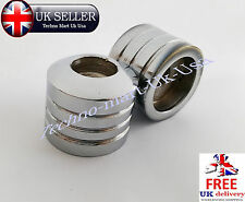"PAIR 22mm 7/8"" ALUMINUM MOTORCYCLE STANDARD HANDLEBAR ROUND BAR END WEIGHTS @UK"