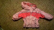 Girl's Toddler Reebok Hooded Windbreaker Jacket Size 12 Months