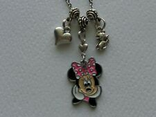 DISNEY WORLD MINNIE MOUSE MICKEY MOUSE HEART  HANDMADE NECKLACE JEWELRY