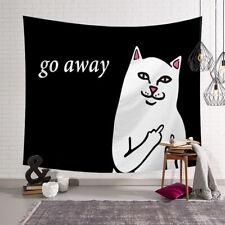 Cat Go Away Print Tapestry Room Wall Hanging Décor 95x73cm HI