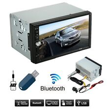 "Autoradio 2 Din 7"" Bluetooth MP5 Stereo Touchscreen USB SD AUX FM RADIO -NO GPS"