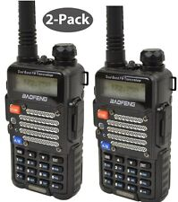 2- Pack Radio Scanner Portable Police Fire Ems Ham Two Way Digital Transceiver