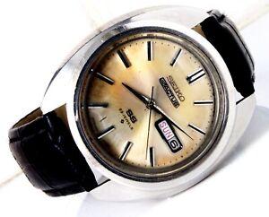 1971 Seiko 5 Actus SS 6106-8440 25J Automatic Watch 40mm Jumbo Case JDM Model