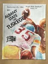 Albany State Tuskegee COLLEGE FOOTBALL PROGRAM - 1984 - EX