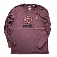 Adidas Missouri State Bears Football Men's XL Aeroknit Long Sleeve T Shirt