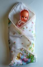Vintage Baby Doll Puppet Blanket Lovey Pink Thumb Sucking Baby