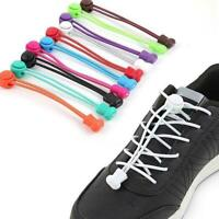 2x No Tie Shoe Lace Elastic Lock Lace Sports Shoelace Runners 23 Colors R1K6