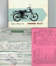 1960 YAMAHA YG-1T YG1T MOTORCYCLE RIDERS MANUAL ILLUSTRATED ORIGINAL OEM NOS