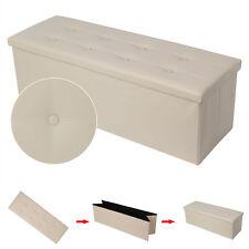Sitzhocker Sitzwürfel Sitzbank Aufbewahrungsbox Hocker Ottomane Faltbar  Auswahl