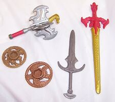 Gold Sword w/ Red Dragon Handle,Staff,Skeleton Pirate,Turtle Discs,Action Figure