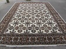 Old Hand Made Traditional Vintage Rugs Oriental Wool Brown Carpet 375x287cm