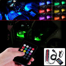 12 LED Universal Car Interior Remote Light Music Control Multi-color Decor Lamp