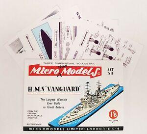 Micromodels Set SII - WARSHIP HMS VANGUARD - Micro New Models card kit