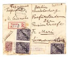 Russia SOVIET-Sc#77,#210(19)-SEE REVERSE-MOSCOW 4/11/22-REGISTERED(label)