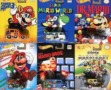 2015 Hot Wheels Pop Culture Nintendo SUPER / MARIO BROS. Complete Set NEW