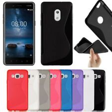 S-Line Soft Silicon Gel Case For Phone Nokia 2 3 5 6 & 8 + Free Screen Protector
