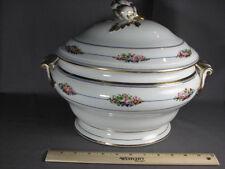 Antique Old Paris White Gold Gilt Soup Artichoke Finial Casserole Vintage Tureen