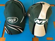 New York Jets Embroidered Adjustable Fitted Caps Hats nfl Lot Of 2