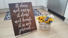 Set of 8 Corinthians 13 Signs, Wedding Aisle Signs, Hand Painted Wood